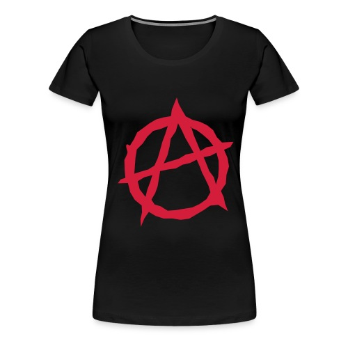 anarchiste woman - T-shirt Premium Femme