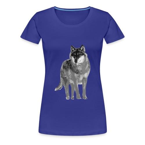 Damen Frauen Girlie Shirt Wolf canis lupus Tiershirt Shirt Tiermotiv - Frauen Premium T-Shirt