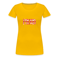 T-Shirts ~ Women's Premium T-Shirt ~ Gay Proud Britain Flag, Pink British Flag, Pink Union Jack, UK Flag