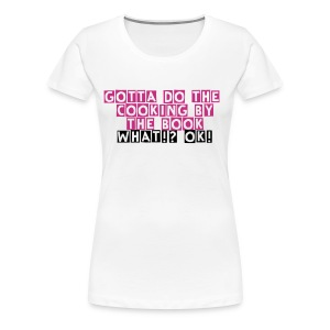 Lazytown vs Lil John - Cooking by the book- White Women's Girlie T-Shirt - Women's Premium T-Shirt