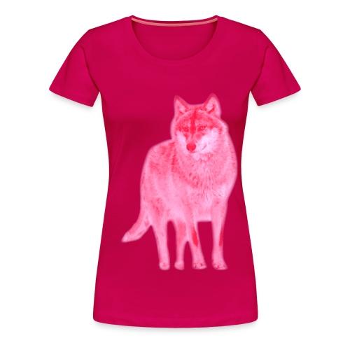 Damen Girlie Shirt Wolf canis lupus Wulf pink tiershirt shirt tiermotiv - Frauen Premium T-Shirt