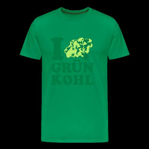 i love grünkohl | herren t-shirt | für grünkohl und kohlfahrt - Männer Premium T-Shirt