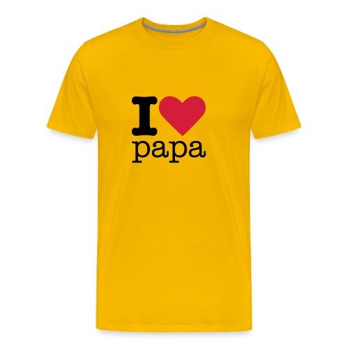 I Love Papa - Mannen Premium T-shirt