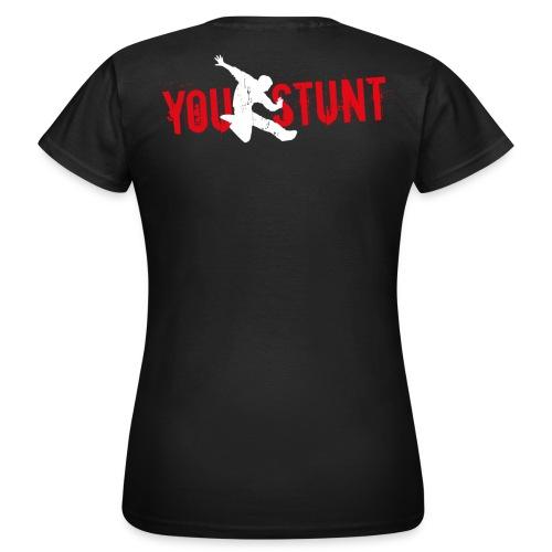 T-Shirt klassisch, Edelbraun, Logo Rückseite - Frauen T-Shirt