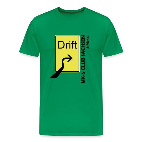 Club T-Shirt Motiv Drift olive - Männer Premium T-Shirt