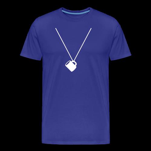 schnapsglas am band | herren t-shirt | für grünkohl, kohlfahrt und junggesellenabschied - Männer Premium T-Shirt