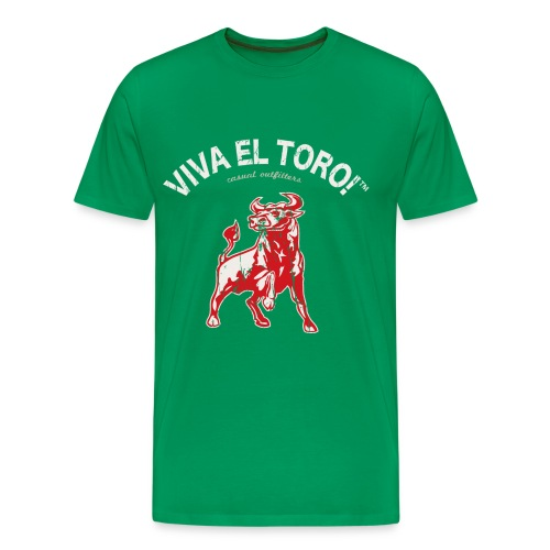 Viva El Toro! Classic Toro Rosso on military green - Men's Premium T-Shirt
