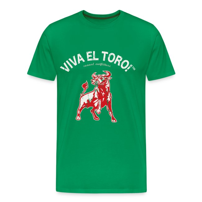 "Viva El Toro! Classic ""Toro Rosso"" on military green"