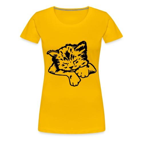 Sleeping cat-paita, naisten - Naisten premium t-paita