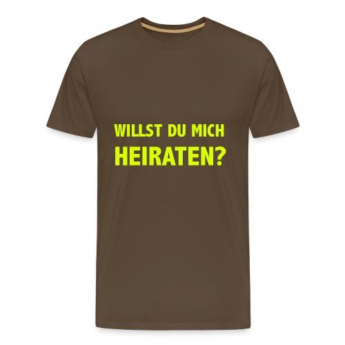 willst Du mich heiraten - T-Shirt - Männer Premium T-Shirt