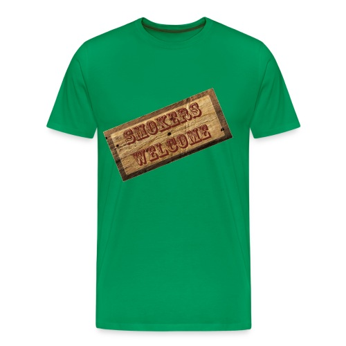 Smokers Welcome - Männer Premium T-Shirt