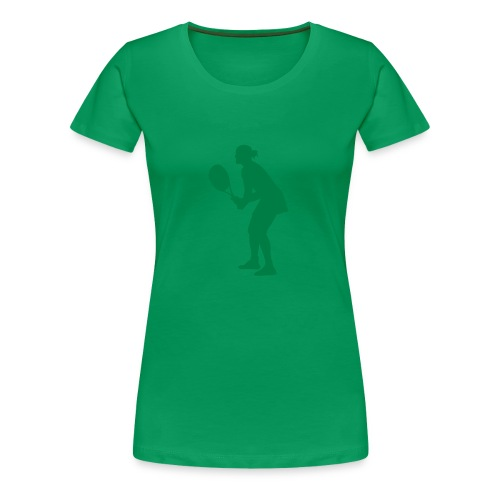 Tennis Silouhette T-shirt Femme (flex1c) - T-shirt Premium Femme