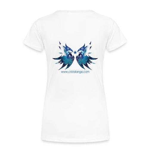 Femme: ailes d ange imprimées by cristalange.com -  DOS - Women's Premium T-Shirt