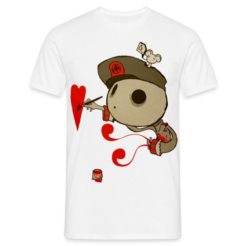Painted Heart - T-shirt herr