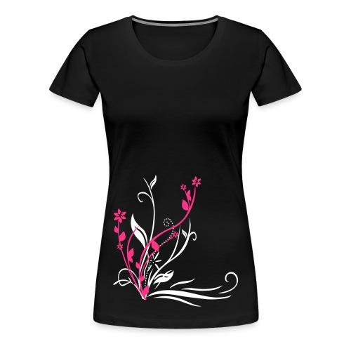 Flower pink-weiß - Frauen Premium T-Shirt