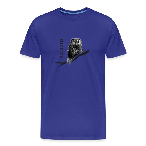 Herren Shirt Eule Kauz Uhu kauzig Tiershirt Shirt Tiermotiv - Männer Premium T-Shirt