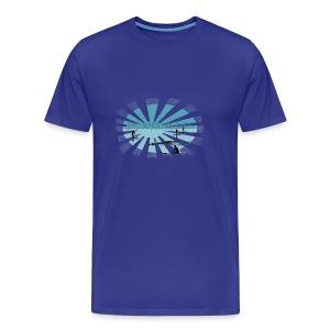 Good morning surf paddle - Bleu - Men's Premium T-Shirt