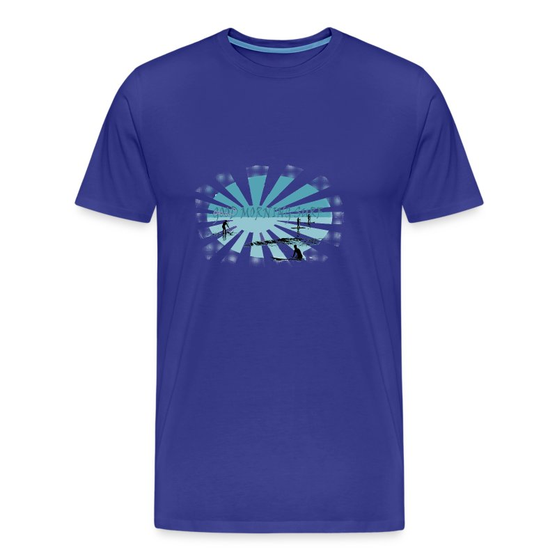 Good morning surf paddle - Bleu - T-shirt Premium Homme