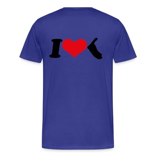 I Love Amrum 2  - Männer Premium T-Shirt