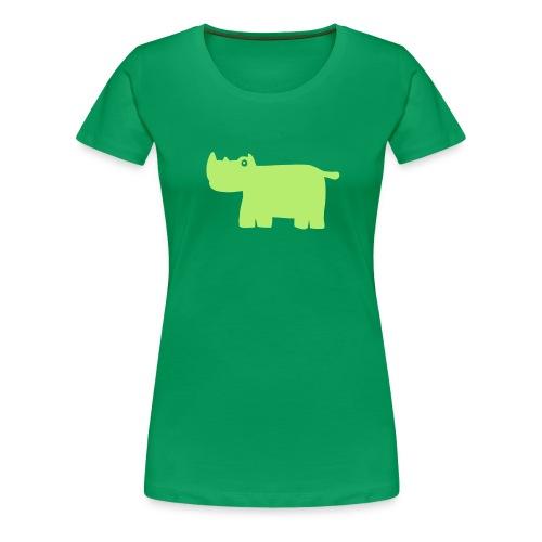 Nashorn-Shirt - Frauen Premium T-Shirt