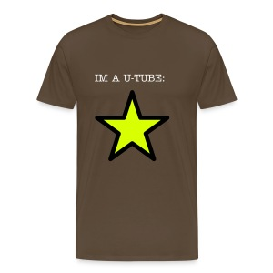 IM A U-TUBE STAR! - White/RED T-shirt - Men's Premium T-Shirt