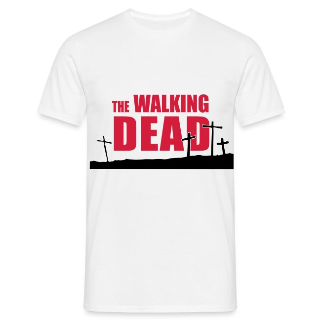 camiseta walking dead - cruces - chico manga corta