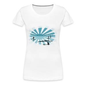 Good morning surf paddle - Bleu - Women's Premium T-Shirt
