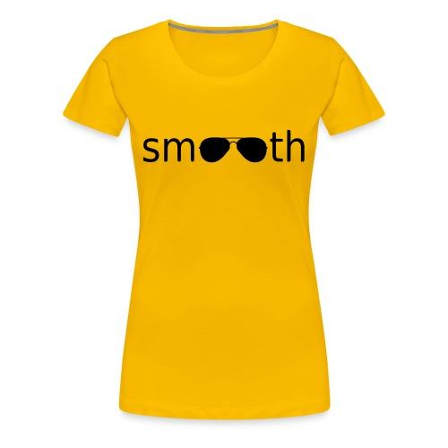 Smooth Pink Sunglasses - Women's Premium T-Shirt