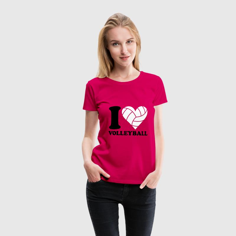 I love Volleyball T-Shirts - Frauen Premium T-Shirt