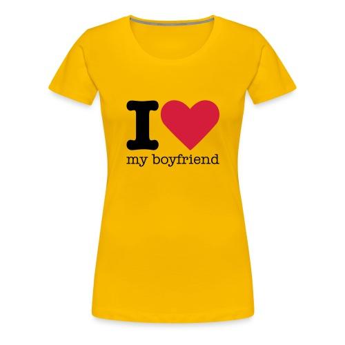 I Love my boyfriend shirt - Vrouwen Premium T-shirt