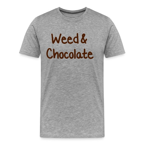 Weed and Chocolate - Shirt - Männer Premium T-Shirt