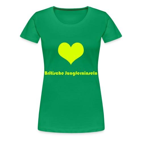♥ Britische Jungferninseln - Frauen Premium T-Shirt