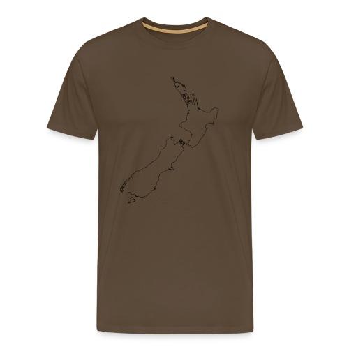New Zealand Map Inside Empty Classic T-Shirt - Männer Premium T-Shirt