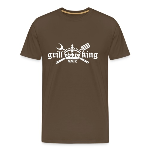 Grillking (Grillen Shirt) - Männer Premium T-Shirt