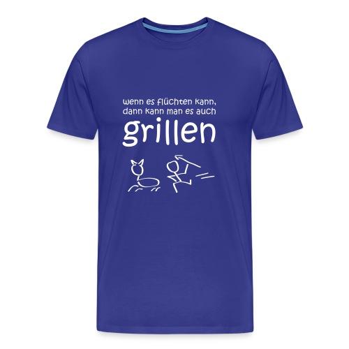 Wenn es laufen kann, kann man es auch grillen (Grillen Shirt) - Männer Premium T-Shirt