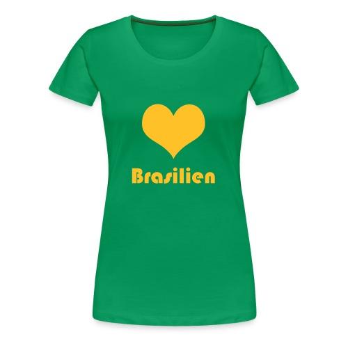 ♥ Brasilien - Frauen Premium T-Shirt