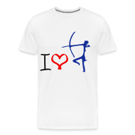 T-Shirts ~ Men's Premium T-Shirt ~ i love archery t-shirt
