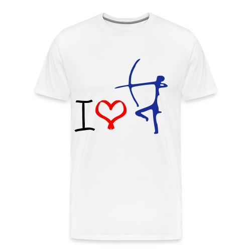 i love archery t-shirt - Men's Premium T-Shirt