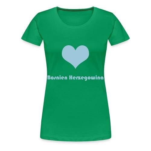 ♥ Bosnien Herzegowina - Frauen Premium T-Shirt