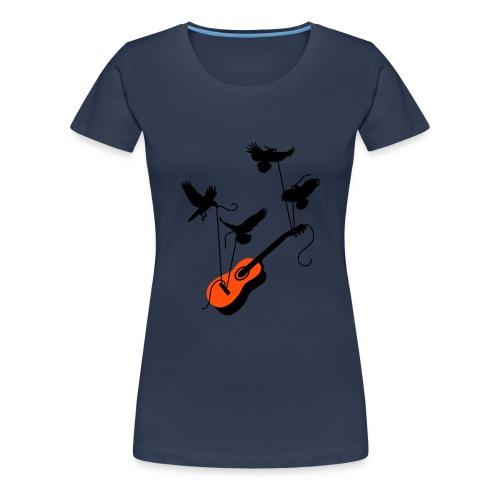 birds & guitar - Frauen Premium T-Shirt