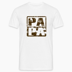 PAPA T-Shirt Vintage Design Brown