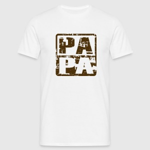 PAPA T-Shirt Vintage Design Brown - Männer T-Shirt