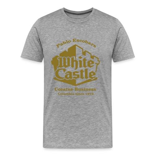 Pablo Escobar White Castle - Shirt Gold - Männer Premium T-Shirt