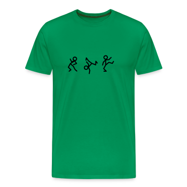 Dancing stick figure T-shirt