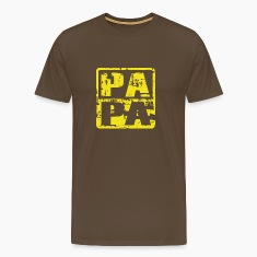 PAPA T-Shirt Vintage Design Yellow
