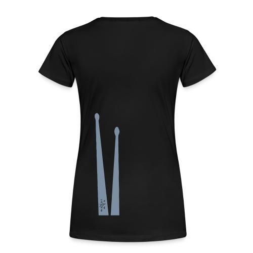 Ladiesshirt, drummsticks silver - Vrouwen Premium T-shirt