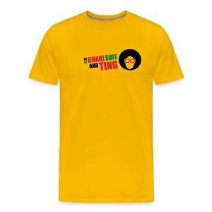 Khaki Suit & Ting - Men's Premium T-Shirt