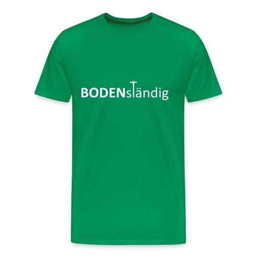 T-Shirt BODENständig, front, white - Männer Premium T-Shirt