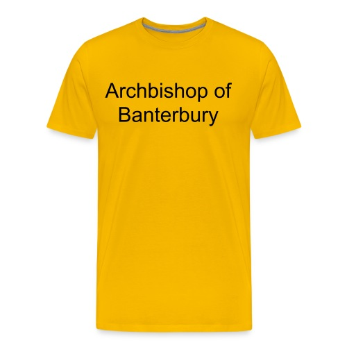 Archbishop of Banterbury - Men's Premium T-Shirt