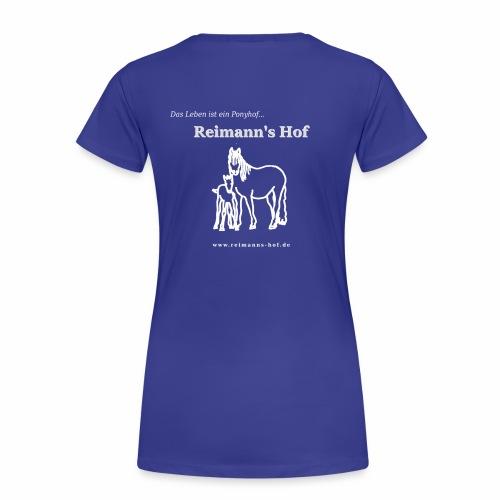 Damen T-Shirt Reimann's Hof -Stute mit Fohlen- - Frauen Premium T-Shirt